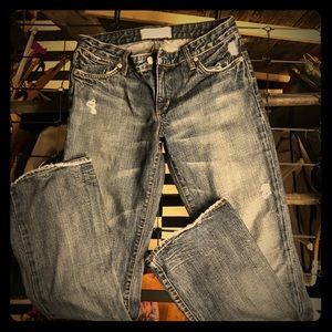 Paper denim and cloth distressed jeans